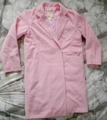 Új, címkés lazac rózsaszín szövet kabát
