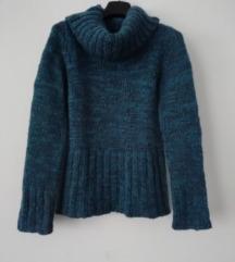 Orsay kék, türkiz pulóver XS