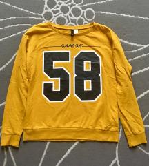 H&M mustársárga vékony pulcsi