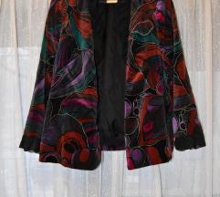 Extra vintage színes geometrikus kabát