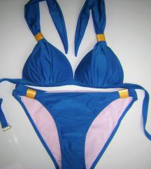 Kék bikini fürdőruha M-es
