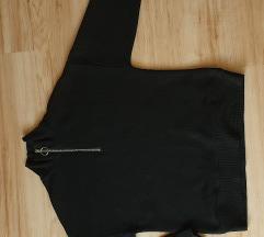 Amisu fekete pulóver XS