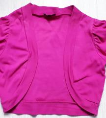 Magenta rózsaszín rövidujjú bolero
