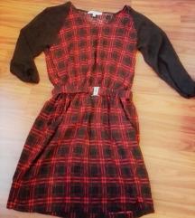 C&A kockás rövid ruha