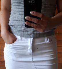 Fehér mini szoknya (S)