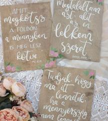 Új-Esküvői üdvözlő tábla