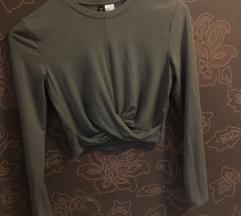 H&M S keki színű crop top