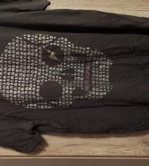 Philip Russel szürke koponyás férfi póló, L méret
