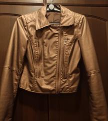 Bronz Műbőr kabátka