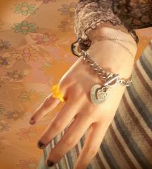 vintage szivecskés karkőtö, gyűrű