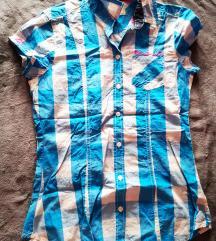 Retro jeans karcsúsított ing