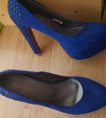 Bruno Banani királykék gyönyörű luxus cipő, AKCIÓ