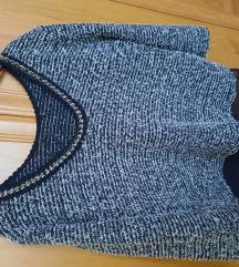 Chanel stílusú tweed pulóver