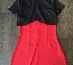 Boohoo fekete piros ruha