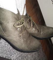 3. Keki zöld bőr cipő