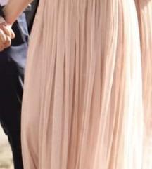 Rose gold maxi ruha