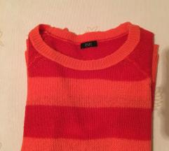 Csíkos kötött pulóver /F&F/