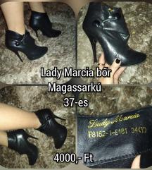 Lady Marcia bőr magassarkú bokacsizma