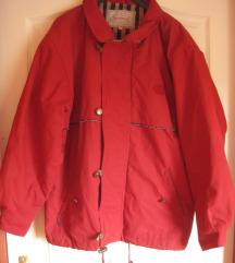 XS-es sötét piros bélelt férfi kabát