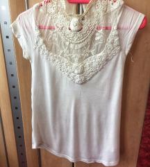Bershka női csipkés/horgolt póló