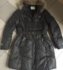 Barna nagyon meleg téli kabát XL
