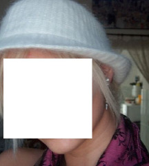 Fehér gyapjú moher kalap Újszerű!