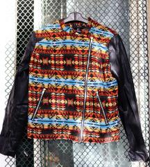 Azték mintás kabát