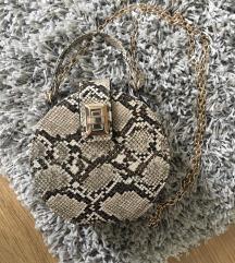 Zara kígyóbőr táska