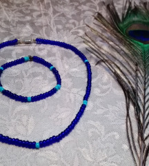 Kék gyöngy szett