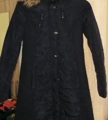 F&F sötétkék szőrmés kabát