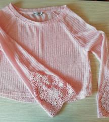Félhosszú rózsaszín pulcsi