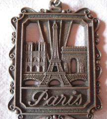 Fém kulcstartó Párizsból