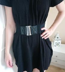 Fekete kényelmes pamut anyagú ruha