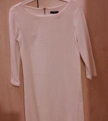 H&M fehér bordázott ruha