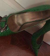 38 Fűzöld alkalmi cipő