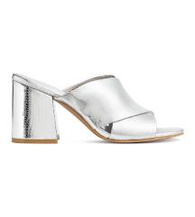 H&M új ezüst papucsszandál 37