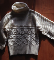 Papaya fehér kötött gyapjú pulóver