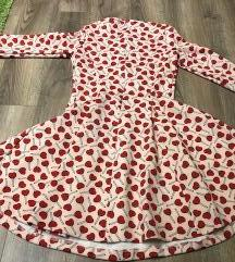 Maxmara Intrend piros szivecskés ruha