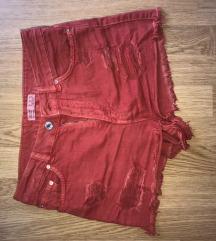 Bershka piros short