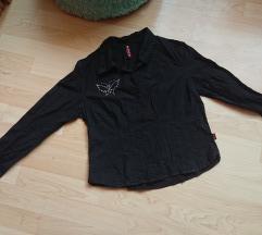 Fekete ing pillangós díszítéssel