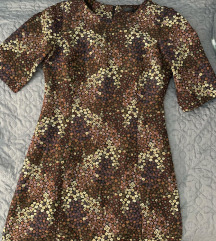 Zara virágos barna ruha
