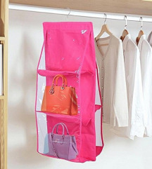 Rózsaszín felakasztható táska vagy cipőtartó