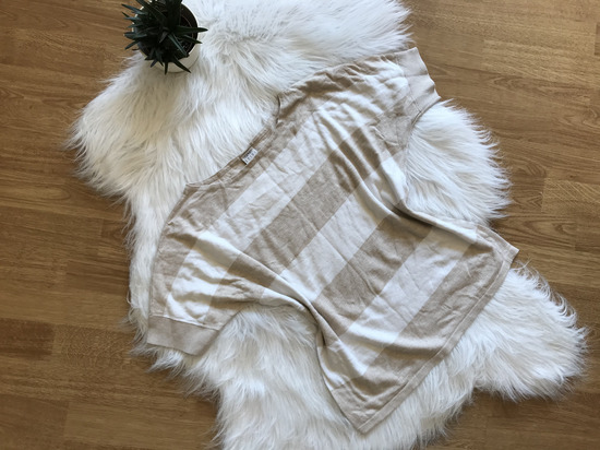 Csíkos fehér - nude Esprit felső M