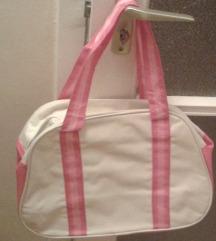 Bézs - pinkt táska, új, szuper!