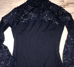 Zara sötétkék alkalmi ruha
