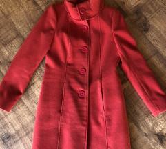Piros szövet kabát