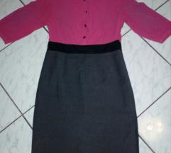 Rózsaszín-szürke ruha