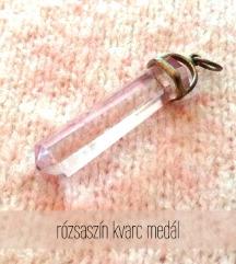 Rózsaszín kvarc medál