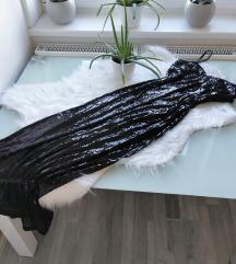 Gyönyörű csupa flitter hosszú ruha M/L