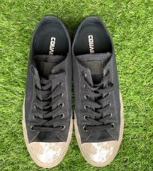 Converse canvas color rubber - ezüst-fekete